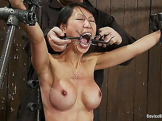 Hawt Oriental Playgirl Tia Ling Tied And Tortured In S&m Vid