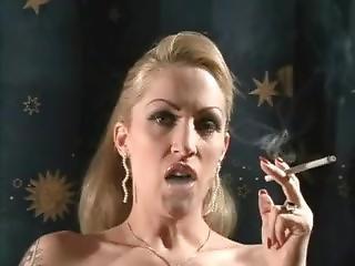 Sexy Blonde Milf Smoking