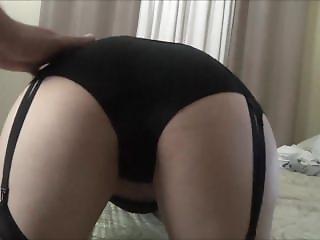 The Cocksuckerprincess - Exposing Her Ass In Black Panties.