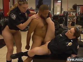 blowjob, politimand, tysk, interracial, milf