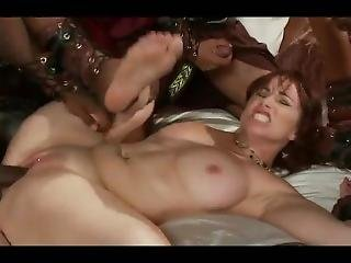 White Slut Gets Used Hard By A Group Of Bbc.....