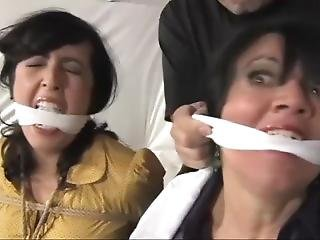 Gigi And Dixie Are Mom And Daughter Bound And Gagged Together