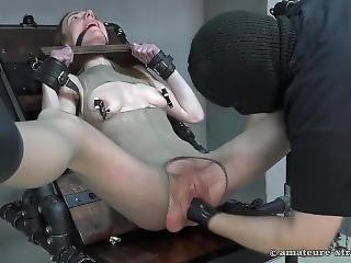 blonde, bondage, fétiche, fisting, masturbation, nylon, chatte, brusque, sexe