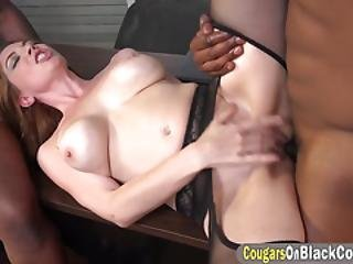 Hot Secretary With Big Boobs Excited To Please A Piston Duo