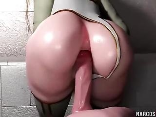Naughty 3d Babes Getting Those Pussies Drilled Raw