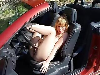 A Horny Beauty Dreams To Be Fucked In All Her Holes In A Cabriolet