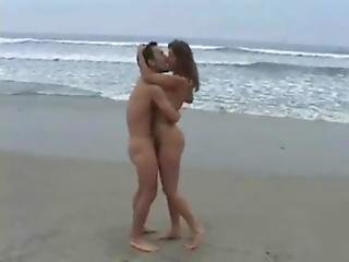 Couple Fucking Hard On Beach