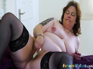 Europemature Busty Curvy Mature Toy Masturbation