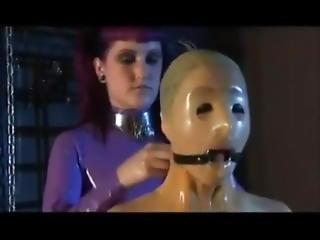 chick, pop, latex, lesbisch, rubber