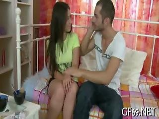 Virgin Babe Receives Lusty Scrutiny