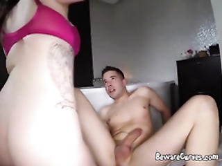 Sexy Harmony Reigns Rides A Big Cock On The Bathroom Floor