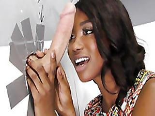 Ebony Skyler Nicole Tries Anal With Huge Cock At Gloryhole