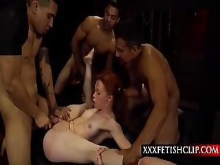 Bdsm Gang Bang On Submissive Redhead Teen Alexa Nova