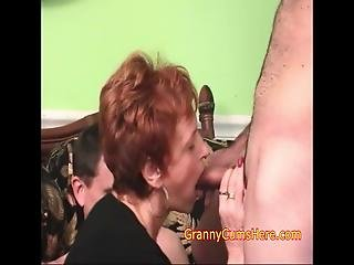 Her Daughter Throws Swingers Parties On The Weekends And This Weekend Invited Her Granny From That Point, Granny Took Over, Blowing All The Guys, White And Black And Taking Cum All In Her Mouth