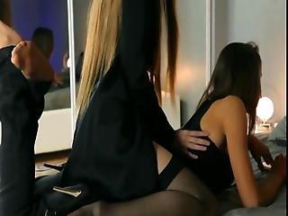 Young Girls In Nice Skirt Sucking Dildo