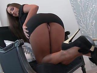 Anal, Ass, Big Ass, Brunette, Dress, Heels, High Heels, Lingerie, Masturbation, Shaved, Solo, Teen, Tight