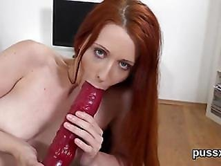 European Teenie Enjoys Pussy Pump And Puts Long Vibro In Twat