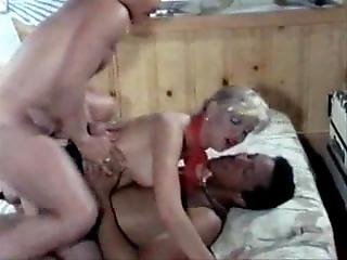 Swedish Multicultural Threesome Ends With A Bang. Double Vaginal Bang!