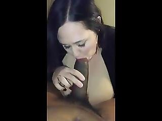 Chubby Amateur Sucks Black Cock