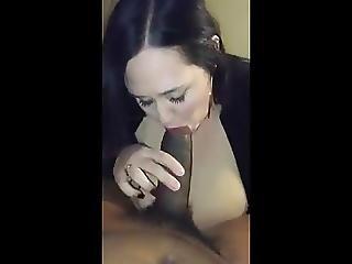 Chubby Amateur Sucks Black Cock