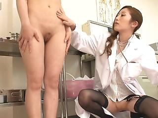 Sexy Doctor Gloved Examination 1