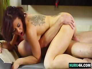 Horny Tattooed Redhead Milf Sucking And Riding Young Cock