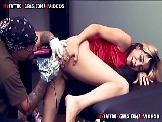 Amina Sky Getting An Extreme Asshole Tattoo