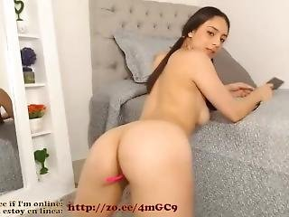 Cute Colombian Young Chick Loves To Strip And Seduce On Cam #1