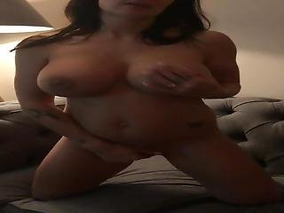 British Milf Joanna Stewart Playing With Herself On The Sofa