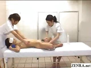 Japan Babe Spread Eagle For Bizarre Erotic Massage