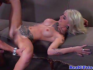 Tattood Blonde Gf Housewife Anal Fucked