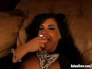 Banana, Brunette, Fitness, Masturbation, Milf, Model, Pussy, Teasing