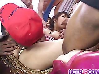 Masami Abe Sucks Dicks In Interracial Fuck