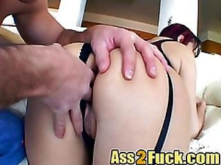 Hardcore Action With Four Hard Cocks On One Horny Whore With Natural Tits