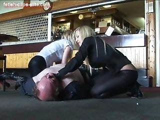 Brutal Leather Boot Blondes 2