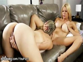 Girlsway Cougar Alexis Fawx Muff Dives Young Pussy
