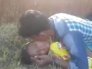 Village Boy Enjoying Farm Girl