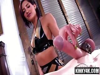 Hot Pornstar Bondage And Cum Eating