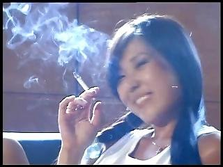 Asian Teen Is Already A Dirty Smoker