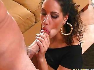 Perky butt Latina grinds on a hard cock