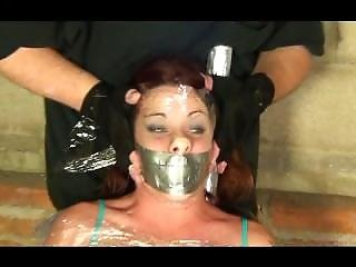 Tapegagged Chick Breath Play