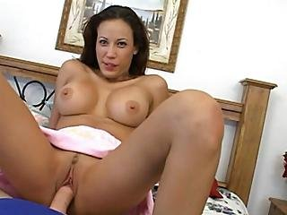 Brunette Bitch Gets Face Showered With Cum1