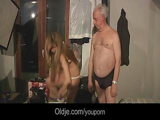 Grandpa Blessed By Hot Russian Pussy