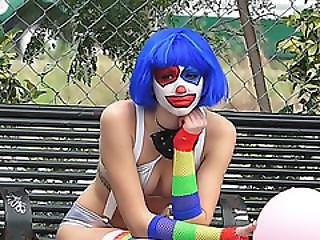 Clown, Cumshot, Fucking, Public, Reality, Sexy, Teen