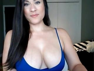 Amateur, Dikke Tiet, Brunette, Splijting, Webcam