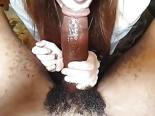 Black Cock Blowjob For Cute Teen First Time