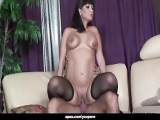 Big Ass Brunette With Stockings Fucked Doggy Style Intensely