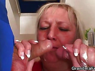 Repairmen Double Team The Hot Granny