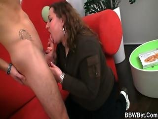 Bbw Brings Him Pizza And He Fucks Her