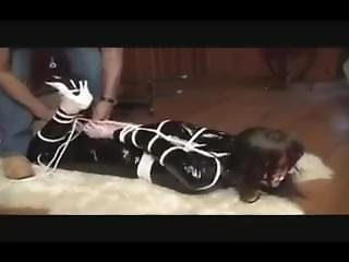Latex Catsuit Bondage